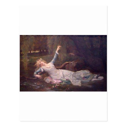 Cabanel Alexandre Ophelia 1883 Postcards