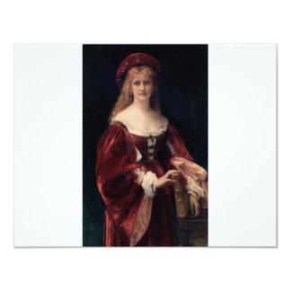 Cabanel Alexandre Patricienne De Venise 1881 11 Cm X 14 Cm Invitation Card
