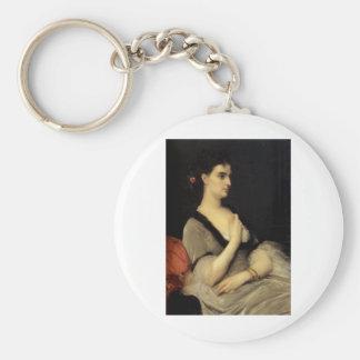 Cabanel Alexandre Portrait Of Countess E A Voronts Basic Round Button Key Ring