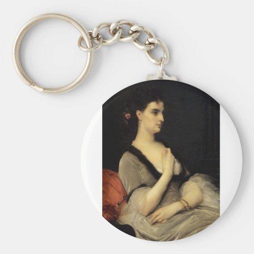 Cabanel Alexandre Portrait Of Countess E A Voronts Key Chains