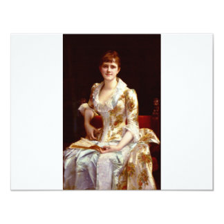 Cabanel Alexandre Portrait Of Young Lady 11 Cm X 14 Cm Invitation Card
