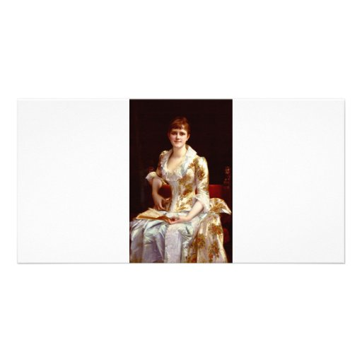 Cabanel Alexandre Portrait Of Young Lady Photo Card Template