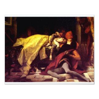 Cabanel Alexandre The Death of Francesca de Rimini 11 Cm X 14 Cm Invitation Card