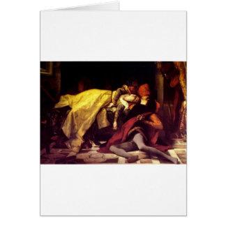 Cabanel Alexandre The Death of Francesca de Rimini Greeting Cards