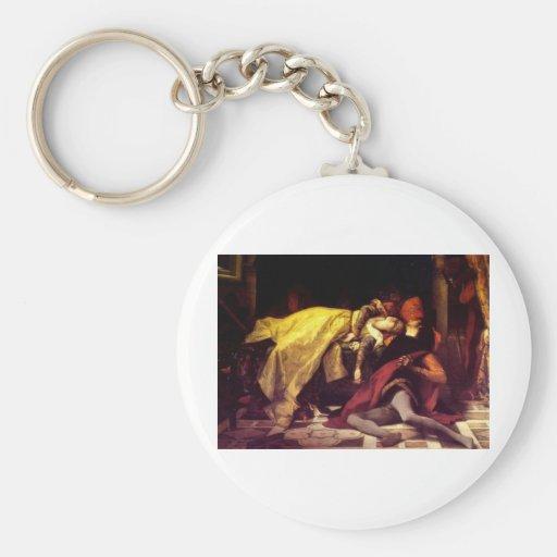 Cabanel Alexandre The Death of Francesca de Rimini Keychains