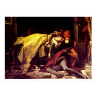 Cabanel Alexandre The Death of Francesca de Rimini Postcard