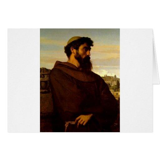 Cabanel Alexandre The Roman Monk Card
