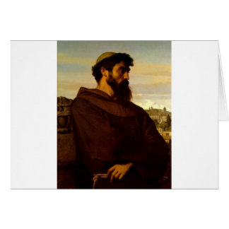 Cabanel Alexandre The Roman Monk Greeting Card