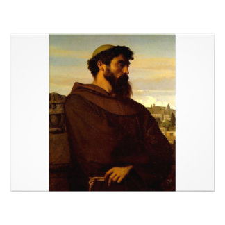 Cabanel Alexandre The Roman Monk Custom Invitation