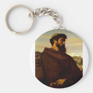 Cabanel Alexandre The Roman Monk Basic Round Button Key Ring