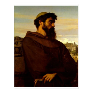 Cabanel Alexandre The Roman Monk Postcard