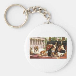Cabanel Cleopatra Testing Poisons on Condemned Pri Basic Round Button Key Ring