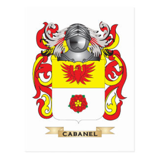 Cabanel Coat of Arms (Family Crest) Postcard