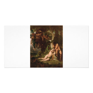 Cabanel The Expulsion of Adam and Eve from the Gar Custom Photo Card