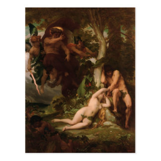 Cabanel The Expulsion of Adam and Eve from the Gar Postcard