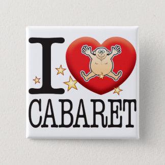 Cabaret Love Man 15 Cm Square Badge