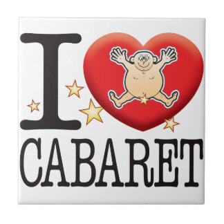 Cabaret Love Man Small Square Tile