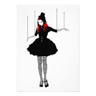 cabaret marionette custom invites