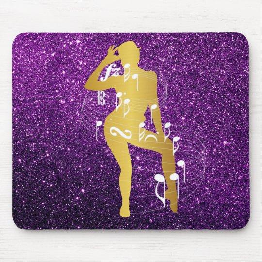Cabaret Musical Dance Girl Glitter Purple Gold Mouse