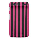 Cabaret Red Fuchsia And Vertical Black Stripes Droid RAZR Cases