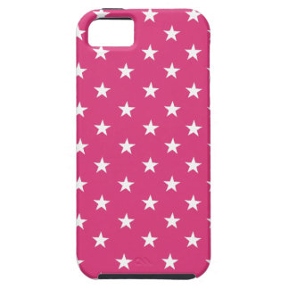 Cabaret Red Fuchsia & White Stars. Add Protection! iPhone 5 Cover