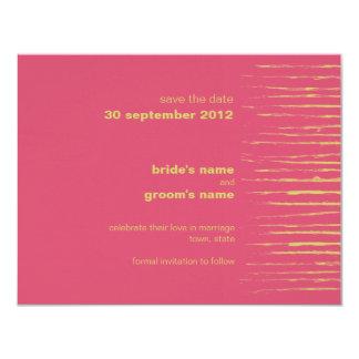 "Cabaret & Sundance Save the Date Announcement 4.25"" X 5.5"" Invitation Card"