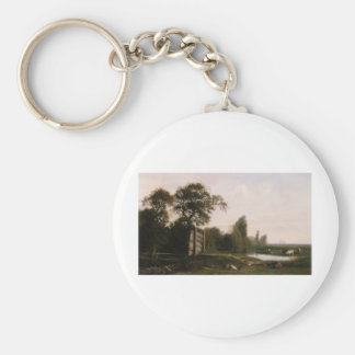 Cabat Nicolas At The Watering Hole Basic Round Button Key Ring