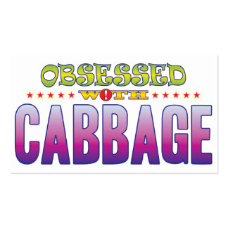 Cabbage 2 Obsessed Pack Of Standard Business Cards