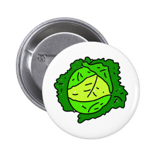 cabbage 6 cm round badge