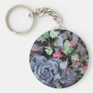 Cabbage and Kale - Photograph Keychain