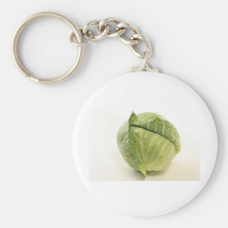 cabbage basic round button key ring