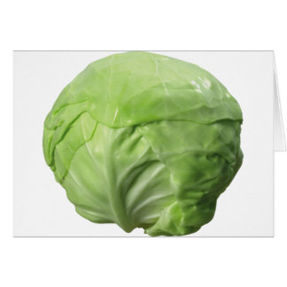 Cabbage Card, Standard white envelopes included Card