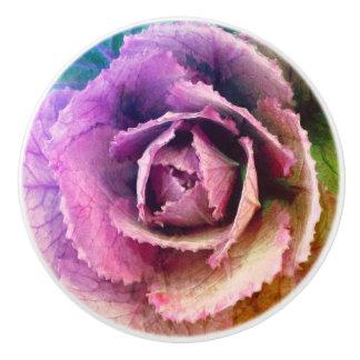 Cabbage Flower Ceramic Knob