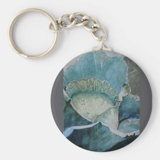 Cabbage Head Basic Round Button Key Ring