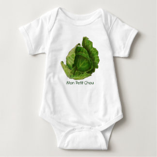 Cabbage in Color Pencil: Mon Petit Chou: French Baby Bodysuit
