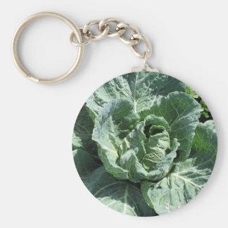 Cabbage Basic Round Button Key Ring