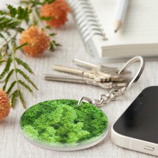 cabbage Single-Sided round acrylic key ring
