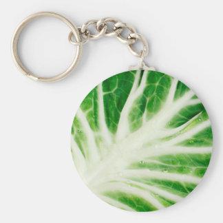 Cabbage leaf basic round button key ring