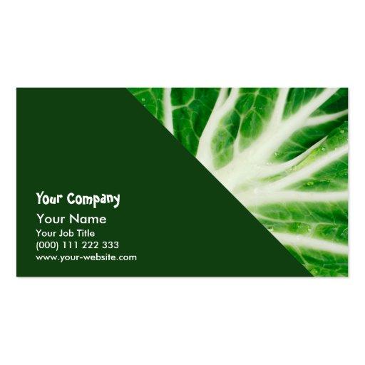 Cabbage leaf business cards