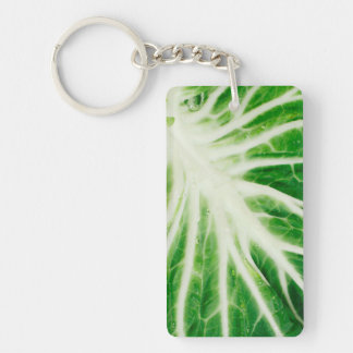 Cabbage leaf rectangular acrylic keychains