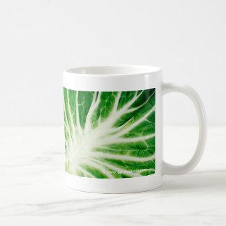 Cabbage leaf classic white coffee mug