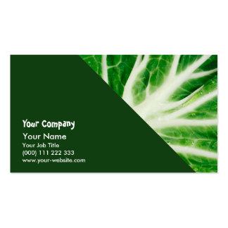 Cabbage leaf pack of standard business cards