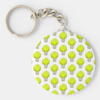 Cabbage Light Bulb Pattern Basic Round Button Key Ring