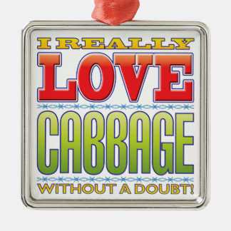 Cabbage Love Christmas Ornament
