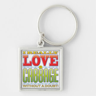 Cabbage Love Face Keychain