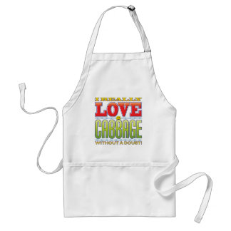 Cabbage Love Face Standard Apron