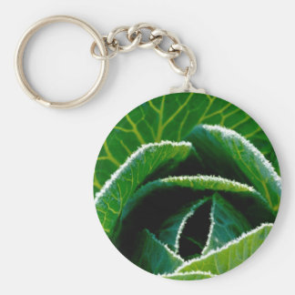 Cabbage, one of your five a day basic round button key ring
