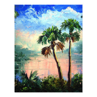 Cabbage Palm River Reflections 21.5 Cm X 28 Cm Flyer