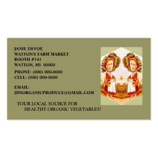 CABBAGE PATCH WOMAN w/ FARM PRODUCE BUSINESS CARDS