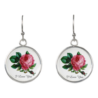 Cabbage Rose Earrings